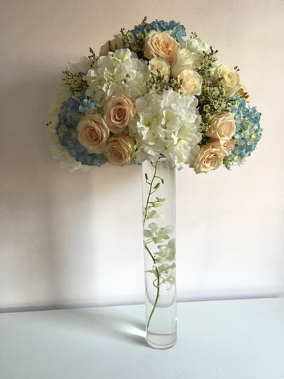 royal regency tall arrangement light blue sahara r