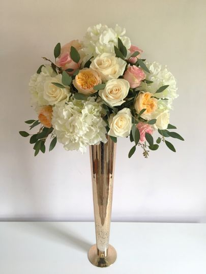 tall gold arrangement