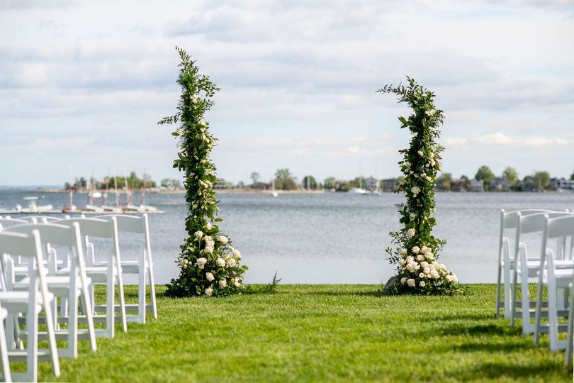 Ceremony Floral Pillars