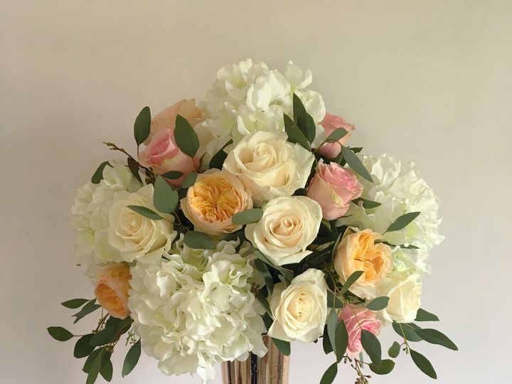 Tmx 1508348343876 Tall Gold Arrangement Yonkers, NY wedding florist