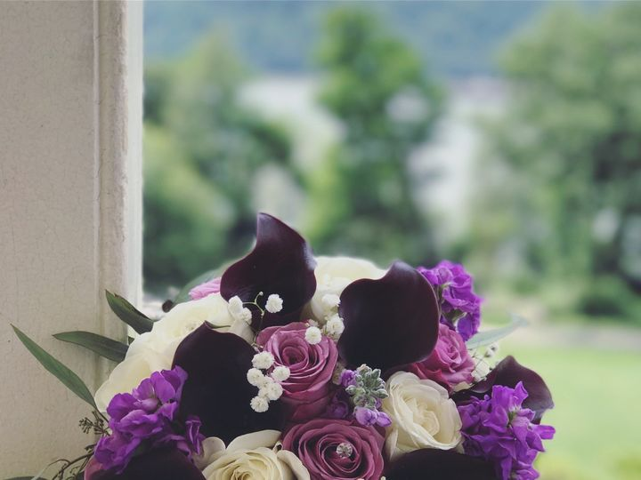 Tmx 1508348473235 Purple Bride Bouquet Yonkers, NY wedding florist