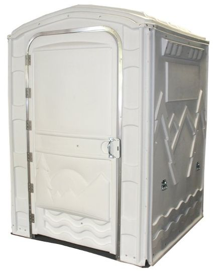 the spacious portable restroom