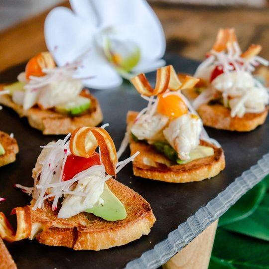 NC Lump Crab Crostini