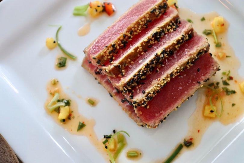 Curry Sesame Sashimi Tuna