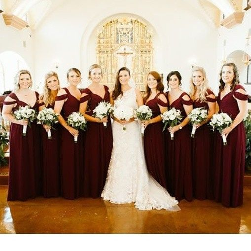 The bride and wedding party