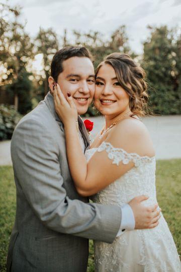 Happy couple at photoshoot