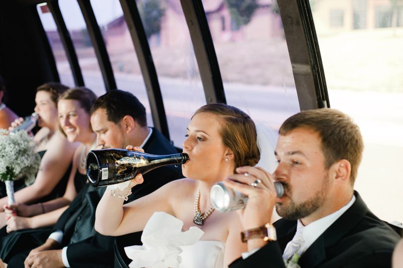 A drink inside the bus