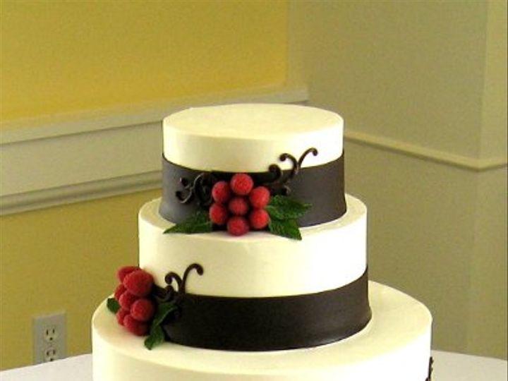 Tmx 1220551985518 RASPBERRYFLOWERCLUSTERS Claremont, California wedding cake