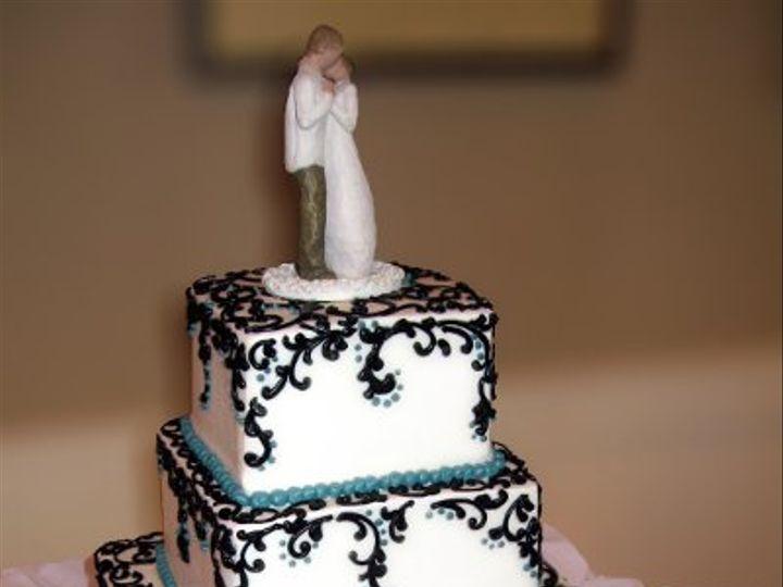 Tmx 1310418054331 WeddingCakeBlueGanacheSwirlsonTopofTiers Claremont, California wedding cake