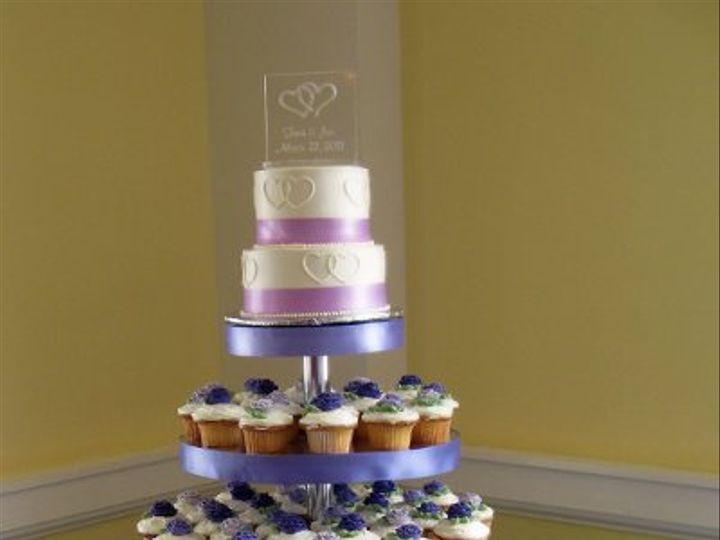 Tmx 1310418106506 WeddingCakeCupcakeCakePUrples Claremont, California wedding cake