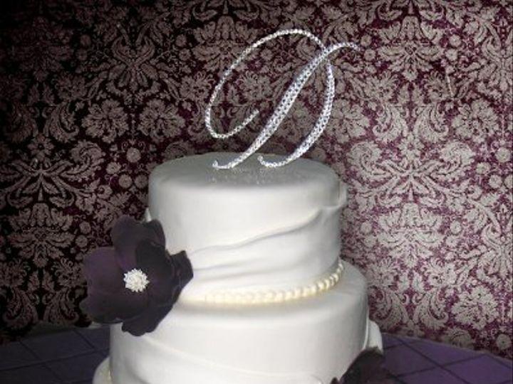 Tmx 1310418172431 WeddingCakeFondantGatheringPurpleFlowers Claremont, California wedding cake