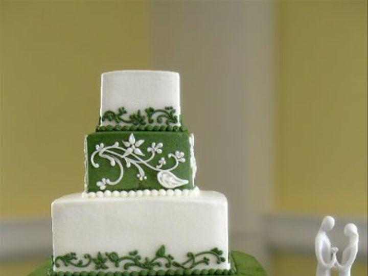 Tmx 1310418233544 WeddingCakeGreenWhiteVineTiers Claremont, California wedding cake