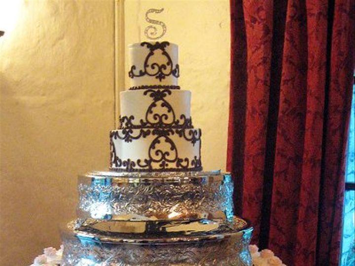 Tmx 1310418557513 WeddingCakeTieredcakewithCupcakes Claremont, California wedding cake
