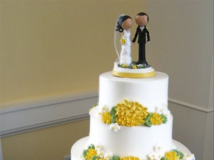 Tmx 1310418659894 WeddingCakeYellowMums Claremont, California wedding cake