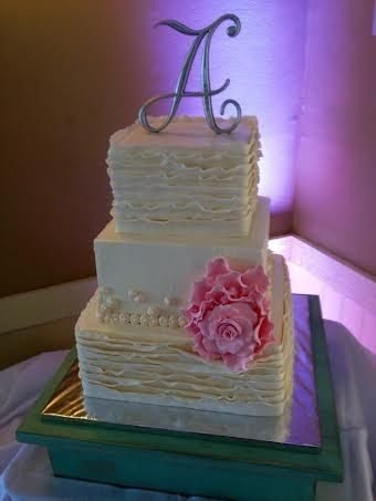 Tmx 1478631364847 Fondant Ruffle Wedding Claremont, California wedding cake