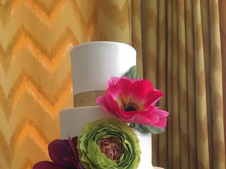Tmx 1507918613913 Black Stripes Claremont, California wedding cake
