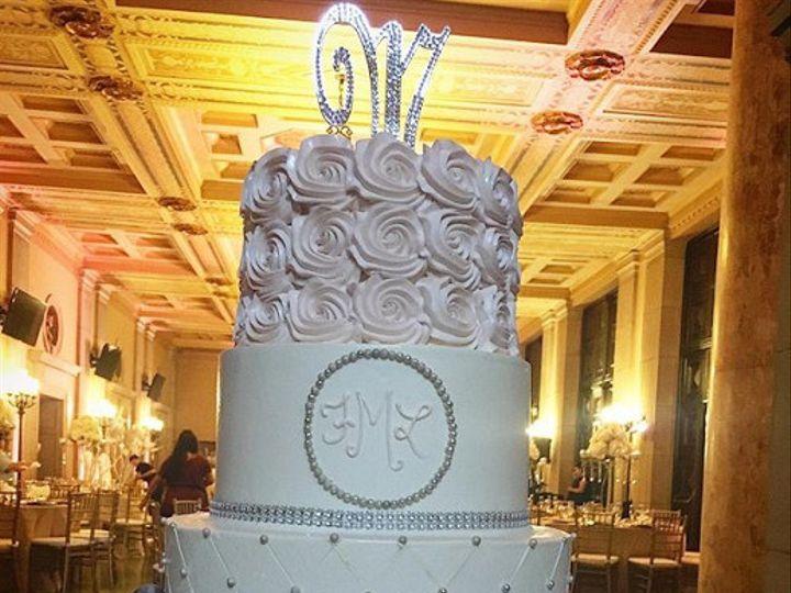 Tmx 1507918783429 Silver And Pink Claremont, California wedding cake