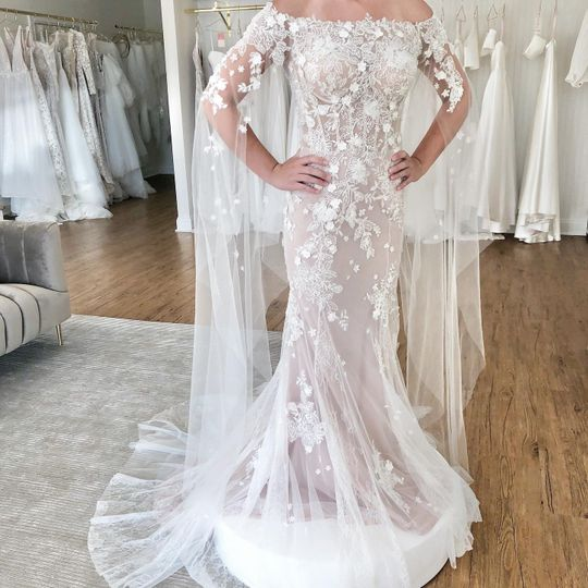 Dany Tabet dress with intricate details