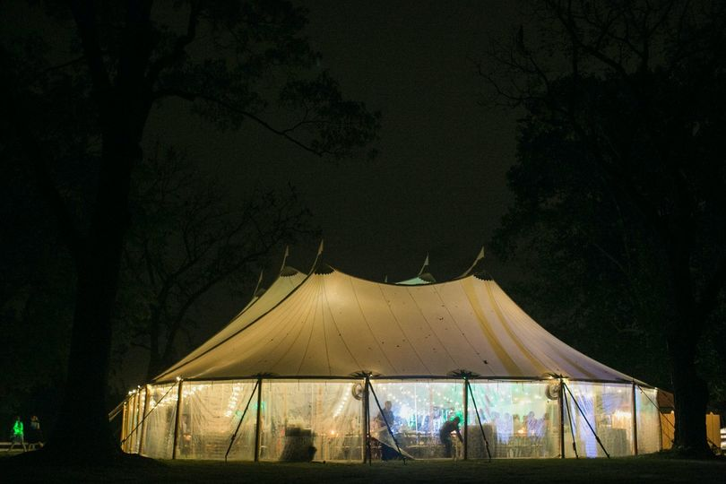 A lively tented reception