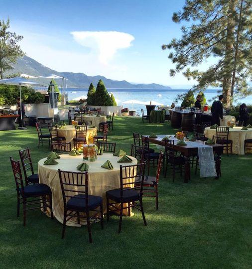 Tahoe Lake front wedding