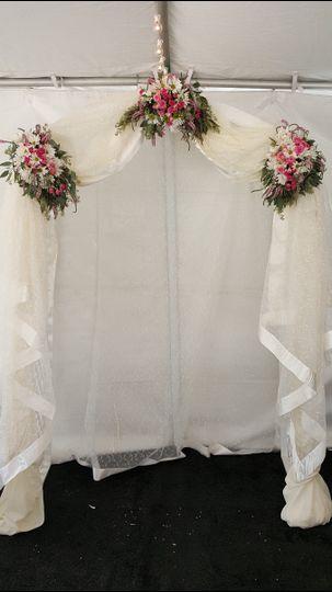 Wedding Arch, draped