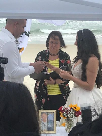 Valentines Day beach wedding!