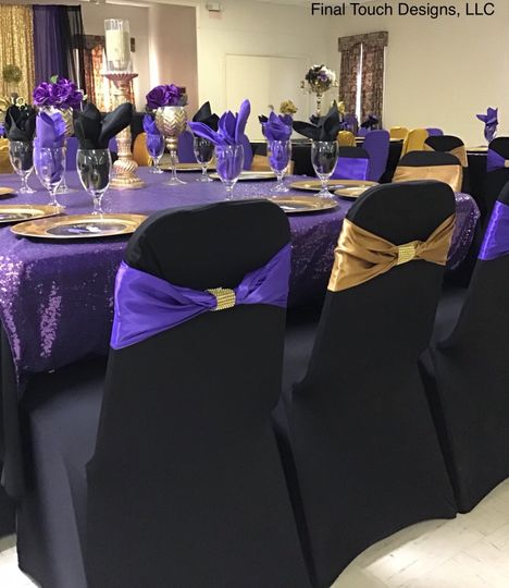 Purple and gold motif