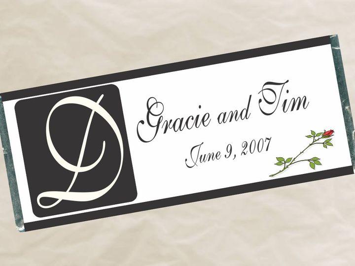 Tmx 1363135304582 W50MonogramWrapper Roseville wedding favor