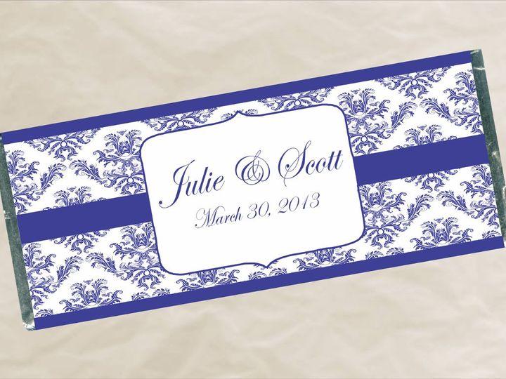 Tmx 1363142622622 W681BlueDamaskWrapper Roseville wedding favor