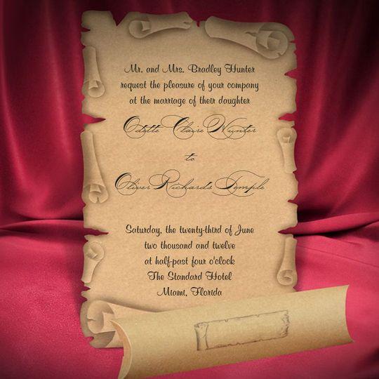 Scroll invitation