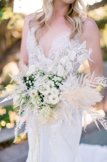 Pampas grass bridal bouquet