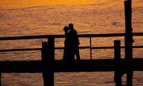 Couple's silhouette