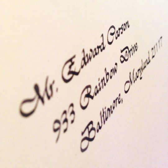 Wedding Invitations In Maryland: Adele Thies Calligraphy And Graphic Design