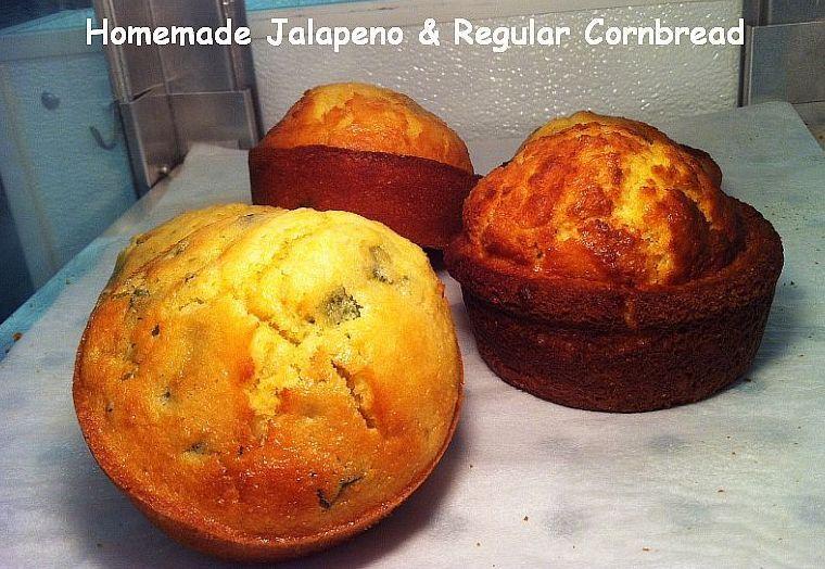 Homemade Jalapeno And regular Corndbread