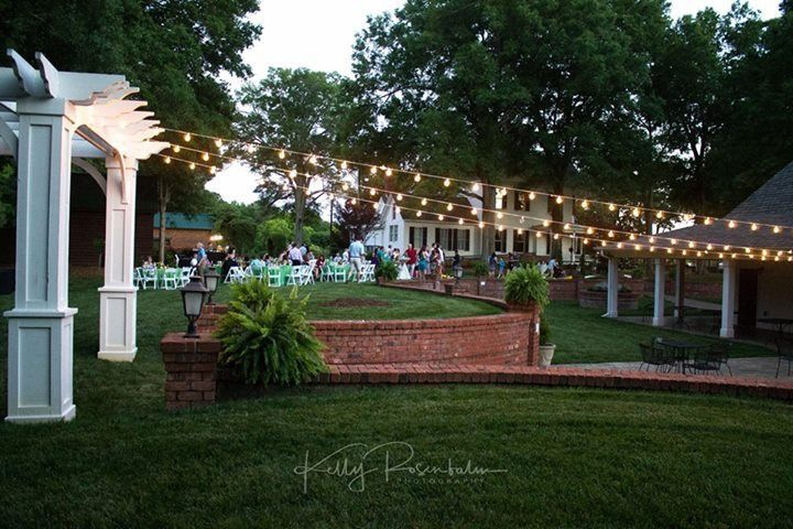 Rental company supplied lighting from Pergola