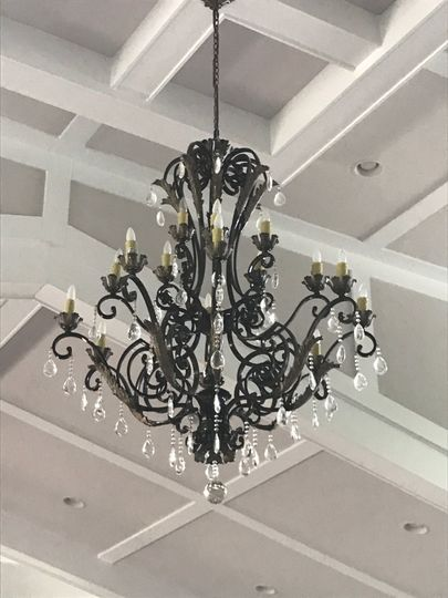 Chandeliers in Pavilion