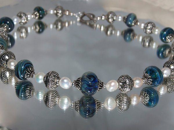 Tmx 1297209753347 BluePearlNecklace Phoenixville wedding jewelry
