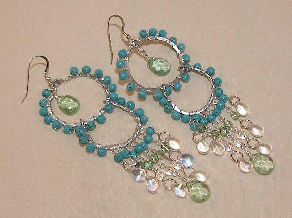 Tmx 1297209807550 TurquoiseCascadeEarrings Phoenixville wedding jewelry