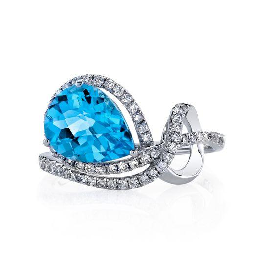 Dazzling blue gemstone