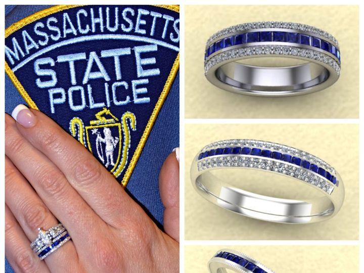 Tmx 1455311085356 Thin Blue Line 2 Mendon wedding jewelry