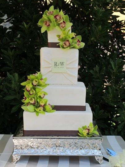 Wedding cake Let's Do Cake made for a couple getting married at the Vintage Estates in Yountville,...