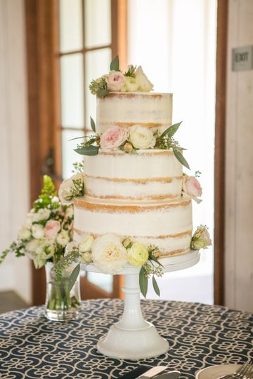 Semi Naked with Fresh Flowers by Let's Do Cake!