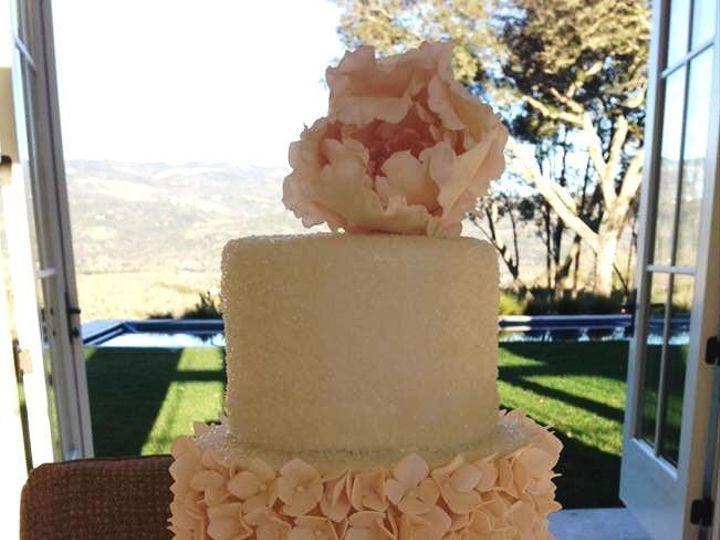 Tmx 1455058705796 Peony Hydrangea Birthday Cake 2 Cropped Petaluma, CA wedding cake
