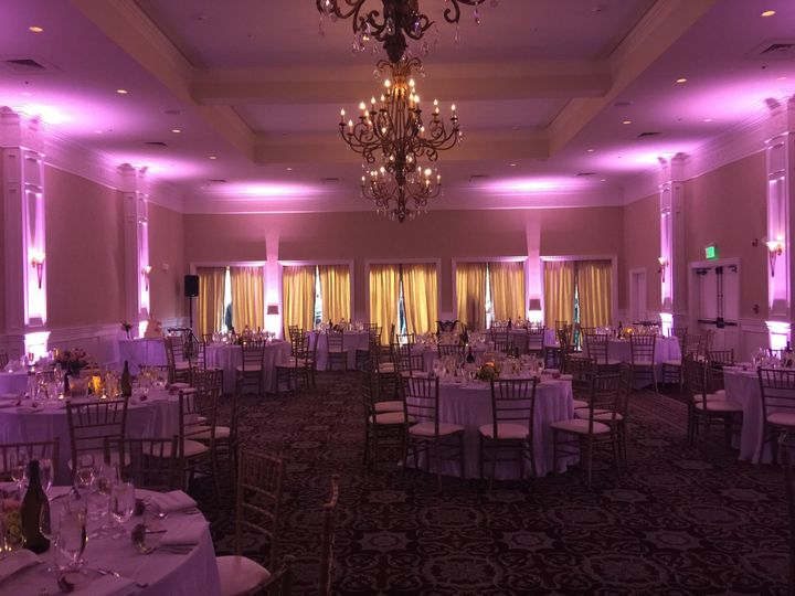 Basic uplighting package, Oceano Hotel, Half Moon Bay, CA
