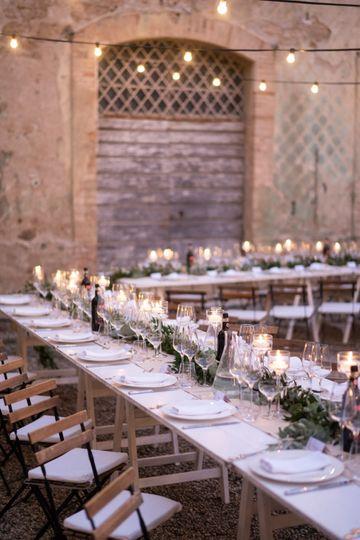 Wedding Dinner in Courtyard