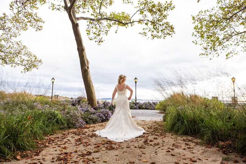 The Bride in Battery Park