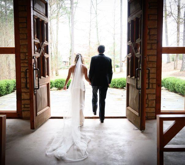 Couple exiting chapel