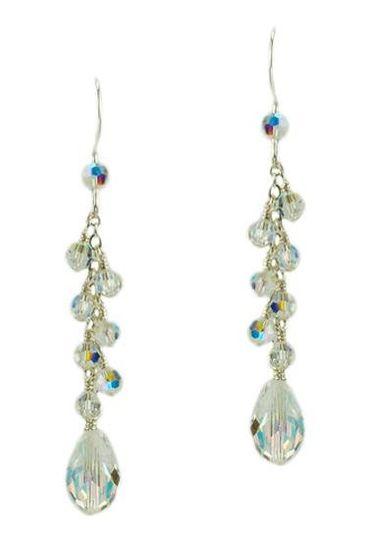 """Melissa"" Crystal Teardrop Earrings"