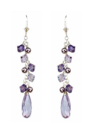 """Tonya"" Briolette Cascade Bridesmaid Earrings"