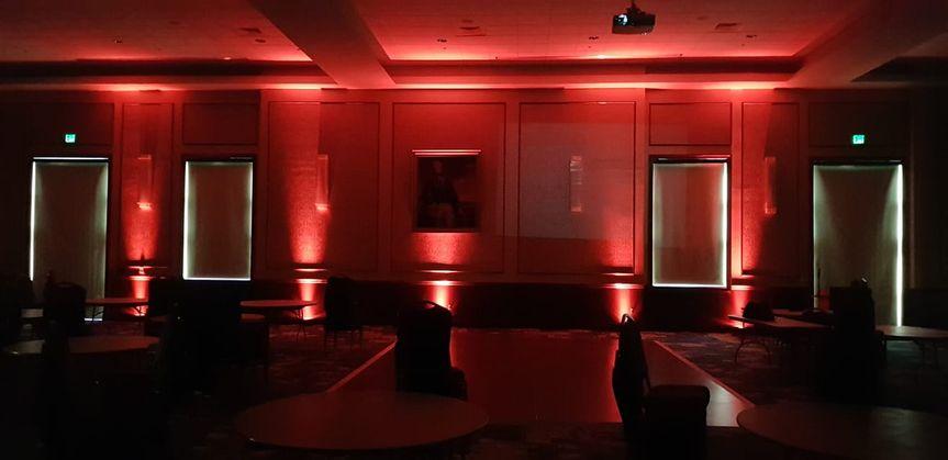 Red uplighting